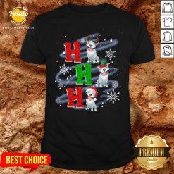 Happy Ho Ho Ho Chritsmas Pitbull Classic Shirt - Design By Potatotees.com