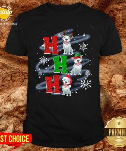 Happy Ho Ho Ho Chritsmas Pitbull Classic Shirt - Design By Potatotees.com