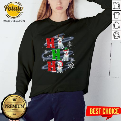 Happy Ho Ho Ho Chritsmas Pitbull Classic Sweatshirt - Design By Potatotees.com