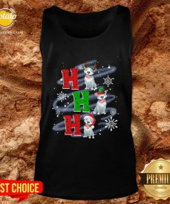 Happy Ho Ho Ho Chritsmas Pitbull Classic Tank Top - Design By Potatotees.com