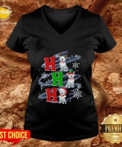 Happy Ho Ho Ho Chritsmas Pitbull Classic V-neck - Design By Potatotees.com