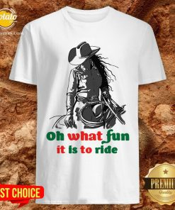 Happy Horse Girl Oh What Fun It Is To Ride Shirt - Design By Potatotees.com