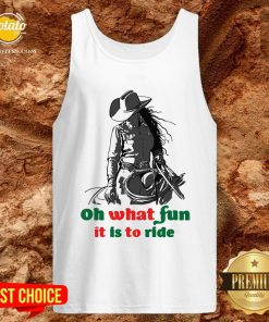 Happy Horse Girl Oh What Fun It Is To Ride Tank Top - Design By Potatotees.com
