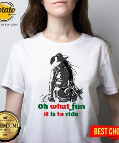 Happy Horse Girl Oh What Fun It Is To Ride V-neck - Design By Potatotees.com