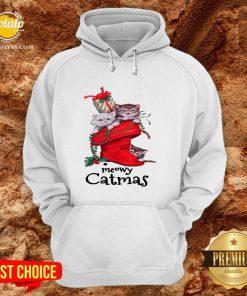 Happy Meow Catmas Merry Christmas Hoodie - Design By Potatotees.com