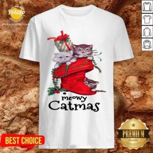Happy Meow Catmas Merry Christmas Shirt - Design By Potatotees.com