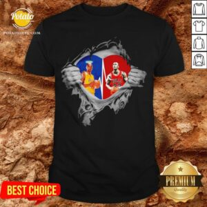 Heart Kobe Bryant And Michael Jordan Shirt - Design By Potatotees.com