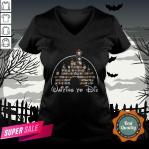 Horror Characters Disney Waitin To Die Halloween V-neck