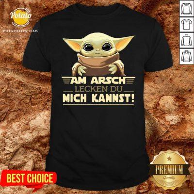 Hot Baby Yodda Am Arsch Lecken Du Mich Kannst Shirt - Design By Potatotees.com