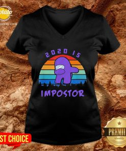 Hot Dabbing 2020 Impostor Imposter Among Game Us Sus For V-neck - Design By Potatotees.com