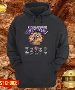 Hot Los Angeles Lakers 2020 NBA Champions Los Angeles Lakers Signature Hoodie - Design By Potatotees.com