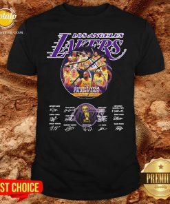 Hot Los Angeles Lakers 2020 NBA Champions Los Angeles Lakers Signature Shirt - Design By Potatotees.com