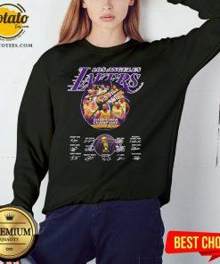 Hot Los Angeles Lakers 2020 NBA Champions Los Angeles Lakers Signature Sweatshirt - Design By Potatotees.com