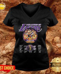 Hot Los Angeles Lakers 2020 NBA Champions Los Angeles Lakers Signature V-neck - Design By Potatotees.com
