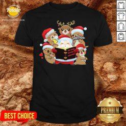 Hot Santa And Sloth Reindeer The Night Before Christmas Shirt - Design By Potatotees.com