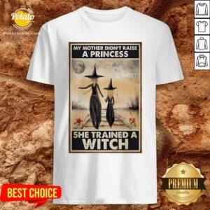 Hot Witch My Mother Didn't Raise A Princess She Trained A Witch Poster Shirt - Design By Potatotees.com