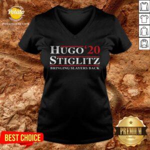 Hugo Stiglitz 2020 Bringing Slayers Back V-neck - Design By Potatotees.com