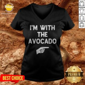 I'm With The Avocado Costume Halloween Matching V-neck - Design By Potatotees.com