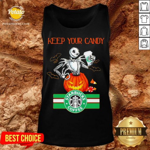 Jack Skellington Keep Your Candy I'll Have Starbuck Coffee Tank Top - Design By Potatotees.com