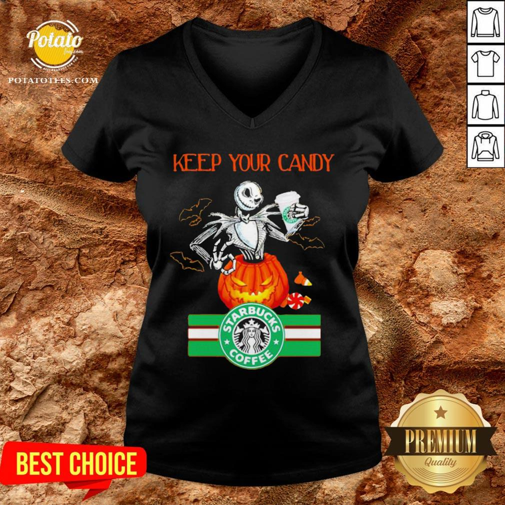 Jack Skellington Keep Your Candy I'll Have Starbuck Coffee V-neck - Design By Potatotees.com