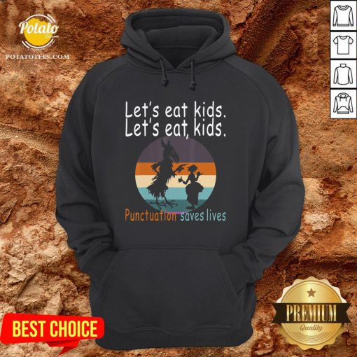 Lets Eat Kids Punctuation Saves Lives Teacher Halloween Vintage Retro Hoodie - Design By Potatotees.com