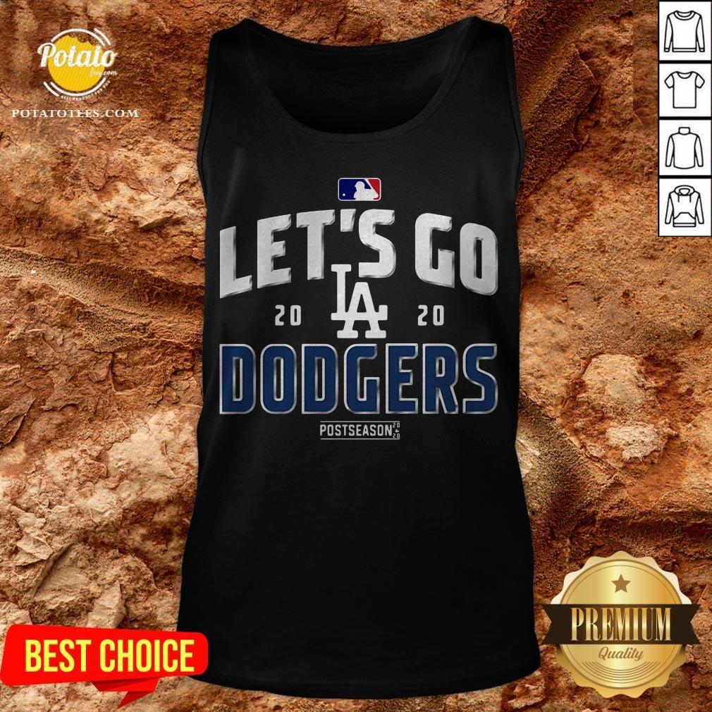 Let's Go Los Angeles Dodgers 2020 Postseason Tank Top - Design By Potatotees.com