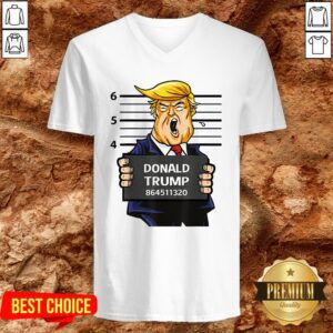 Lock Him Up Trump Tax Returns Mug Shot Trump Taxes V-neck