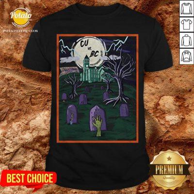 Love Cu Vs Bc Tiger Halloween Shirt - Design By Potatotees.com