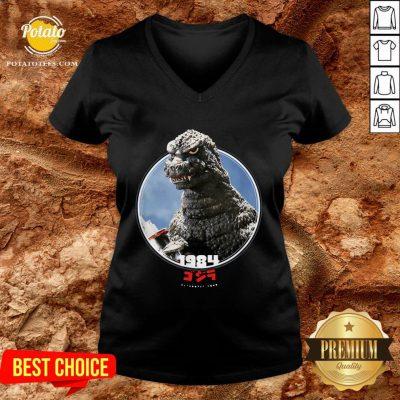 Love Godzilla 1984 The Return Of Godzilla Icons Of Toho 2020 V-neck - Design By Potatotees.com
