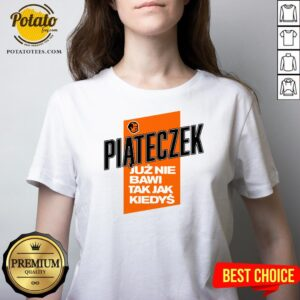 Love Piąteczek Biała Koszulka Męska V-neck - Design By Potatotees.com