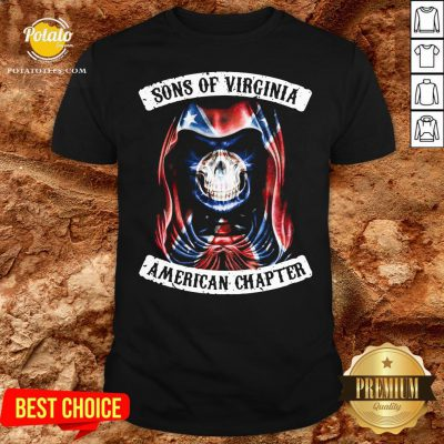 Love Sons Of Virginia American Chapter British Flag Shirt - Design By Potatotees.com