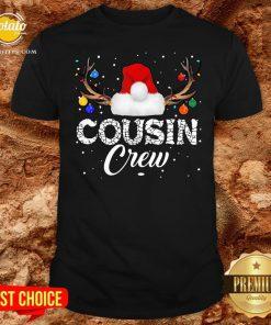 Love Xmas Christmas Cousin Crew 2021 Shirt - Design By Potatotees.com