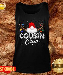 Love Xmas Christmas Cousin Crew 2021 Tank Top - Design By Potatotees.com