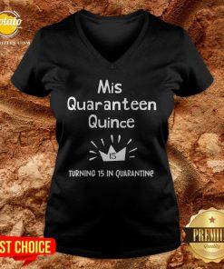 Mis Quince 15 Quaranteen Birthday Teenager Quinceanera V-neck- Design By Potatotees.com