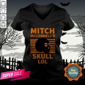 Mitch McConnell'S Skull LOL Halloween Vintage V-neck