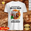 Never Underestimate An Old Man Who Is Also A Zoologist Moon Shirt