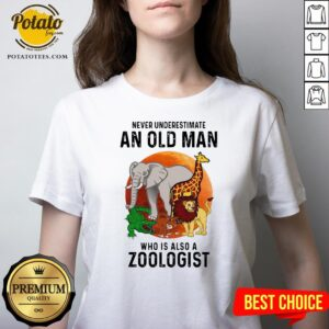 Never Underestimate An Old Man Who Is Also A Zoologist Moon V-neck