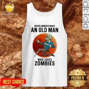 Never Underestimate An Old Man Who Loves Zombies Moon Tank Top