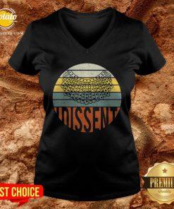 Nice I Dissent Quote Vintage RBG V-neck - Design By Potatotees.com