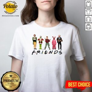 Nice Ralphie Brooke Nieter Elf Chevy Chase Grinch Friends Christmas V-neck - Design By Potatotees.com