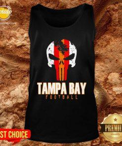 Nice Tampa Bay Varsity Style Retro Football Skull Tank Top - Design By Potatotees.com
