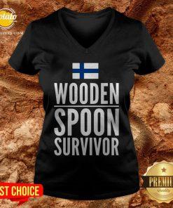 Nice Wooden Spoon Survivor V-neck - Design By Potatotees.com