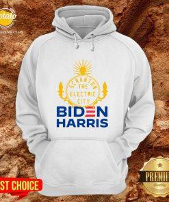 Official Biden Harris Marni Senofonte Scranton Electric City White Hoodie - Design By Potatotees.com