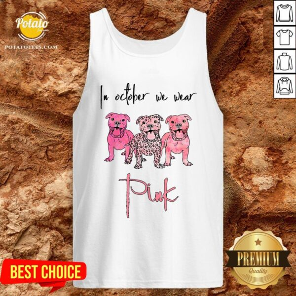 Official Pitbull In October We Wear Pink Tank Top