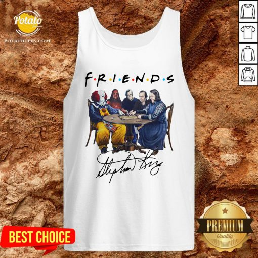Perfect Stephen King Friends Signature Tank Top- Design By Potatotees.com