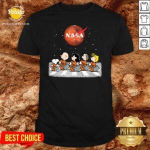 Perfect The Peanuts Abbey Road Nasa Shirt - Design By Potatotees.com