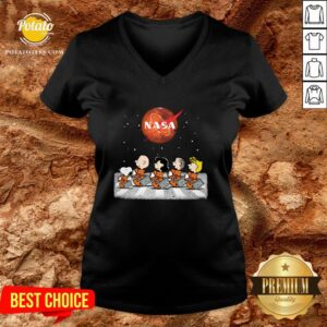 Perfect The Peanuts Abbey Road Nasa V-neck - Design By Potatotees.com