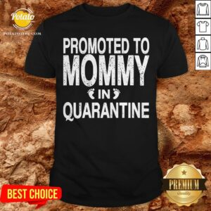 Promoted To Mommy In Quarantine Pregnancy Announcemet Shirt - Design By Potatotees.com