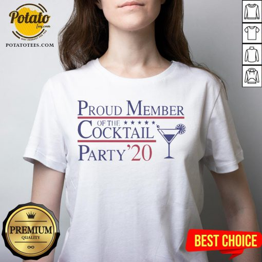 Proud Member Of The Cocktail Party 2020 V-neck - Design By Potatotees.com