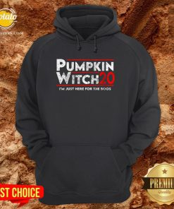 Pumpkin Witch Halloween Election 2020 I'm Just Here For The Boos Hoodie - Design By Potatotees.com